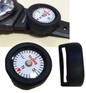 Silicon Loop Holder Compass for Watchband or Sportbag #Si-25-Lh