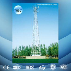 Hot-DIP Galvanized 3-Leg Angular Steel Telecommunication Tower with Antenna Support