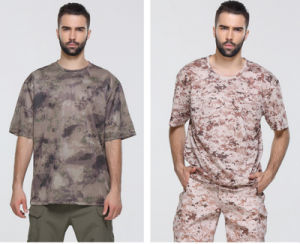 fashion Dry Fit Round Neck Breathable Commandos Slim Camouflage T Shirt