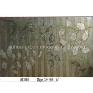 Silver Leaf Painting of Flower (LH-700010)