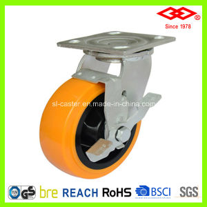 100mm Swivel Plate with Single Brake Caster (P701-36FA100X50Z) pictures & photos