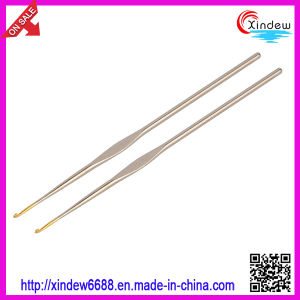 Golden Head Iron Crochet Hook Knitting Needle (XDIH-002) pictures & photos