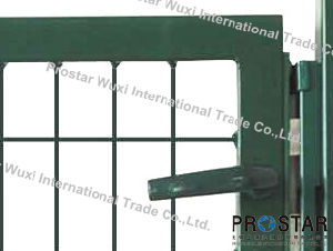 Fence Gate, Iron Gate, Garden Gate, Rectangular Post Gate, Single Wing Gate pictures & photos