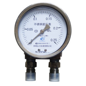 "4"" 100mm Stainless Steel Three-Valve High Static Differential Pressure Gauge pictures & photos"