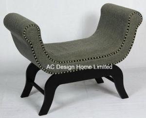 Awe Inspiring Vintage Fabric Wooden Indoor Single Seat Ottoman Bench Theyellowbook Wood Chair Design Ideas Theyellowbookinfo