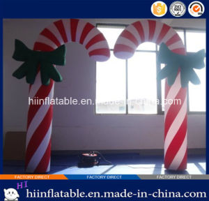 2015 Hot Selling Christmas LED Lighting Inflatable Canes 0001 for Christmas, Party Decoration