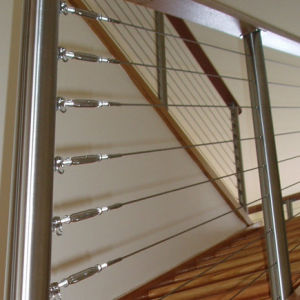 China Stainless Steel Wire Rope Balustrade - China Cable Balustrade ...
