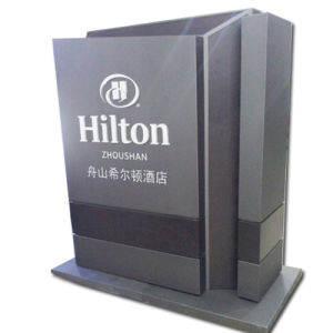 Pylon Signs Display Stand with LED Lightbox as Advertising Equipment pictures & photos