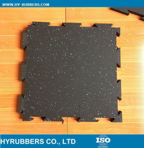 Interlock Gym Use Rubber Floor Tile, Dog Bone Safety Rubber Floor Recycled pictures & photos