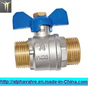 Full Bore Brass Ball Valve with Butterfly Handle (a. 0116)