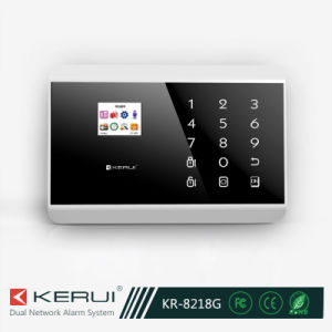 Wireless 99 Zones Home Alarm System with TFT Color Display (KR-8218G)