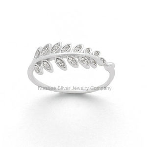 Good Quality Luxury Silver Jewellery Leaf Shape Ring Gift (KR3031) pictures & photos