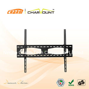Fixed LED LCD TV Wall Bracket for 37′′-80′′ Screens with Integrated Bubble Level (CT-PLB-301VL) pictures & photos