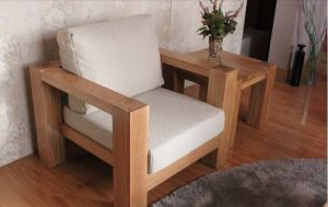Solid Oak Wood Sofa with Good Quality (M-X1158) pictures & photos