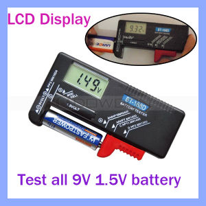LCD Display Dt168d 1.5V 9V Battery Tester Meter pictures & photos