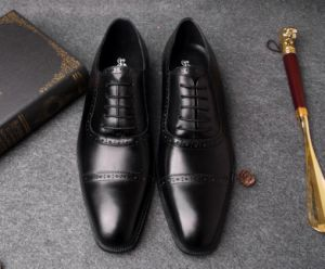 18f31501de2 China Cow Leather Derby Shoes Mens Black Formal Dress Shoes - China ...