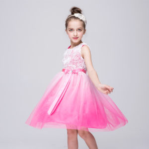 6aa0b233c China Kids Girls Flowers Voile Tulle Gradient Color Belted Formal ...