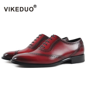 China Vikeduo Red Brogue Style Men