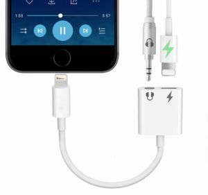 the best attitude 0fa05 092b3 iPhone 8 Audio Charging 2 in 1 Splitter Adapter Lightning to 3.5mm Aux Jack  Audio Charging Headphones Adapter for iPhone X and iPhone Max