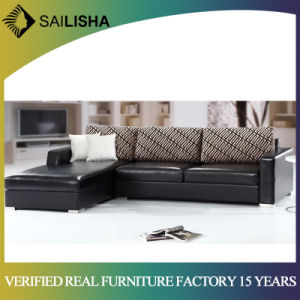 New Design Modern Living Room Leather L Shape Corner Sectional Sofa