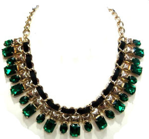 2013 Trendy Green Stones Jewelry Fashion Necklace (HNK-130522)