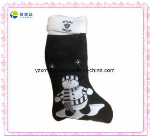 Hot Sell X-Mas Black Plush Sock