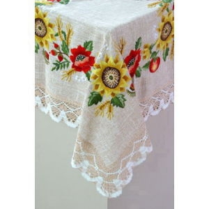 Sunflower Hand Embroidery Tablecloth