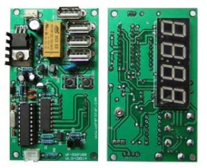 Coin Operated Timer Control Board For Double USB Channel pictures & photos