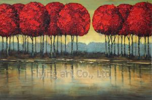 Retro Craft Art Oil Painting for Lotus Flower pictures & photos