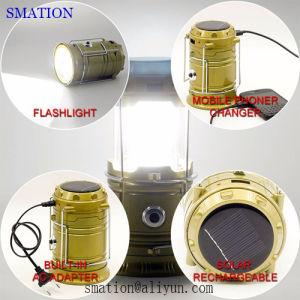 LED USB Multi-Function Flexible Solar Rechargeable Battery LED Camping Light pictures & photos