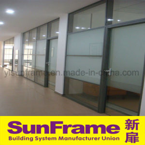 Office Partition Wall Made in Aluminium Profile and Glass pictures & photos