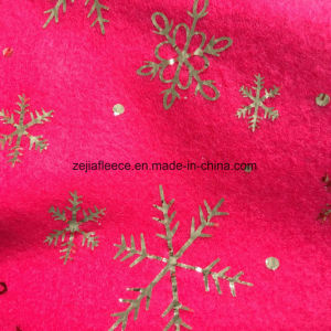 Gold Hot Stamping Fleece Fabric for Decoration pictures & photos