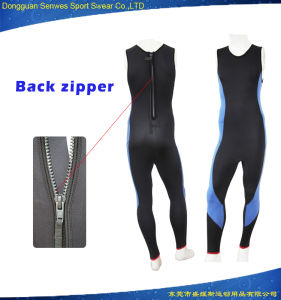 Men Back Zipper 3mm Neoprene Sleeveless Surfing Swim Wetsuit