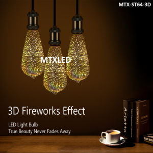 New Fancy Decorative Lamp Colorful 2w St64 Led Fireworks Bulb