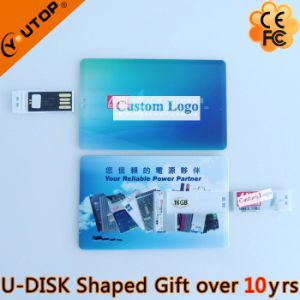 Hot Sliding Credit Card USB Flash Drive as Fair Gifts (YT-3109)