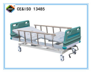 (A-64) Movable Double-Function Manual Hospital Bed with ABS Bed Head
