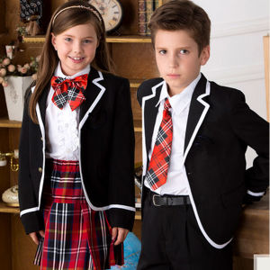 Custom Made Whole Cotton Knitted School Uniform Design pictures & photos
