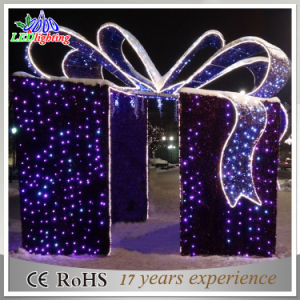 led string gift box large outdoor christmas decoration light - Outdoor Christmas Decorations Gift Boxes