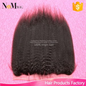 13X4 Brazilian Yaki Straight Lace Frontal Closure Best Quality Kinky Straight Closure pictures & photos