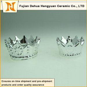 Hot Sale The Crown Shape Ceramic Candle Holder pictures & photos