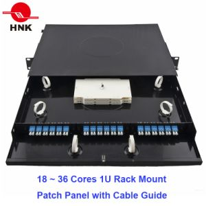 "48cores 1u 19"" Rack Mount Patch Panel with Cable Guide pictures & photos"