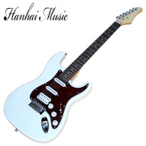 Hanhai Music / White Suhr Style Electric Guitar with Red Pickguard pictures & photos
