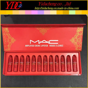 12 Pieces Red Box Amplified Lipstick Sets for Mac Cosmetics