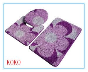 America Pp Frizzy Purple Bath Rug Set
