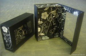 Luxury Royal-Level Black PU Leather Perfume Boxes with EVA Inner Padding pictures & photos