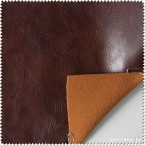 Fashion Oil PU Leather for Shoe (S207100YP) pictures & photos