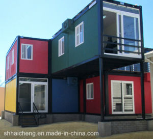 China 40ft prefab shipping container houses with kitchen for Prefab guest house with bathroom and kitchen