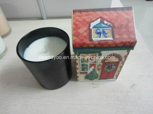 Black Jar High-End Box Packaging Luxury Candle Scented