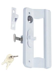 High Quality Sliding Door Handle with Lock & Button pictures & photos