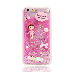 Cute Character 3D Liquid Sand Heart Quicksand TPU Case for Samsung Galaxy J1 J5 J7
